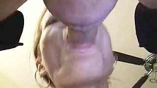 German Milf Gives Dirty Blowjob
